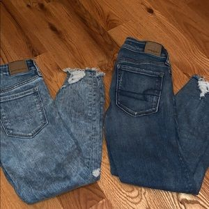 American Eagle Cropped Jeans (2 Pair)